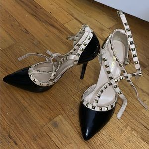 Wild Diva studded closed toe heels